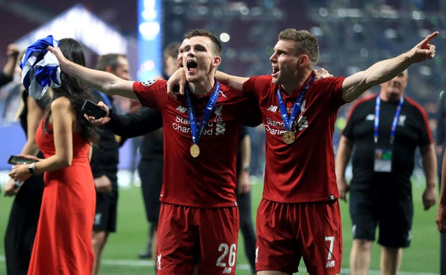 James Milner has a Champions League medal