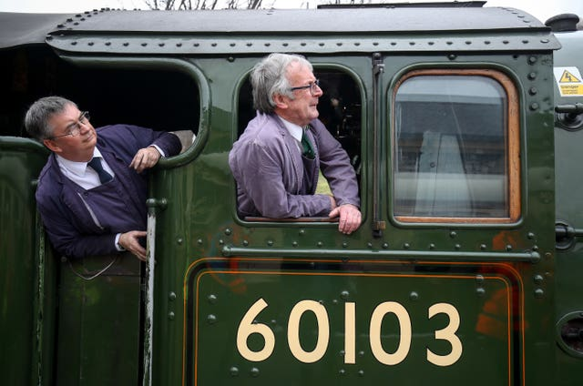 Driver and fireman on Flying Scotsman
