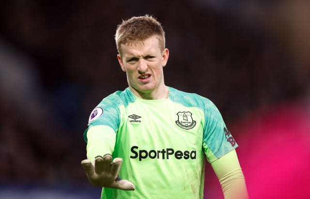 Everton goalkeeper Jordan Pickford has struggled for form this season