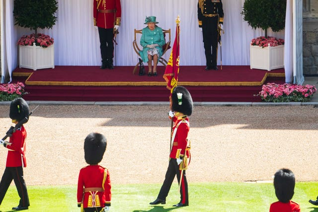 The Queen during her official birthday celebrations last year