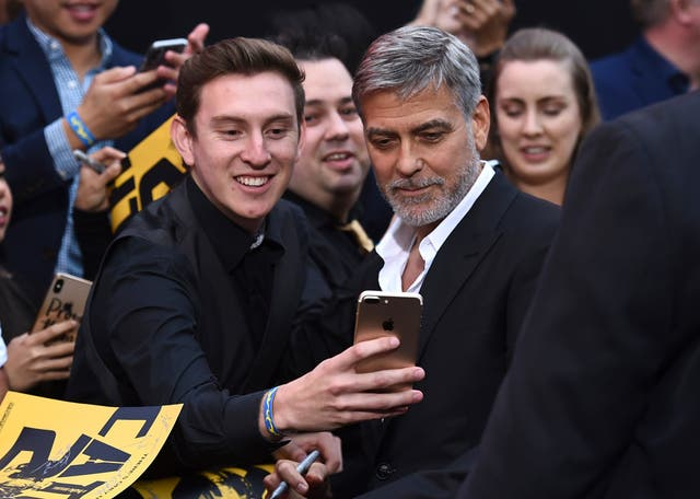 George Clooney at the Los Angeles premiere