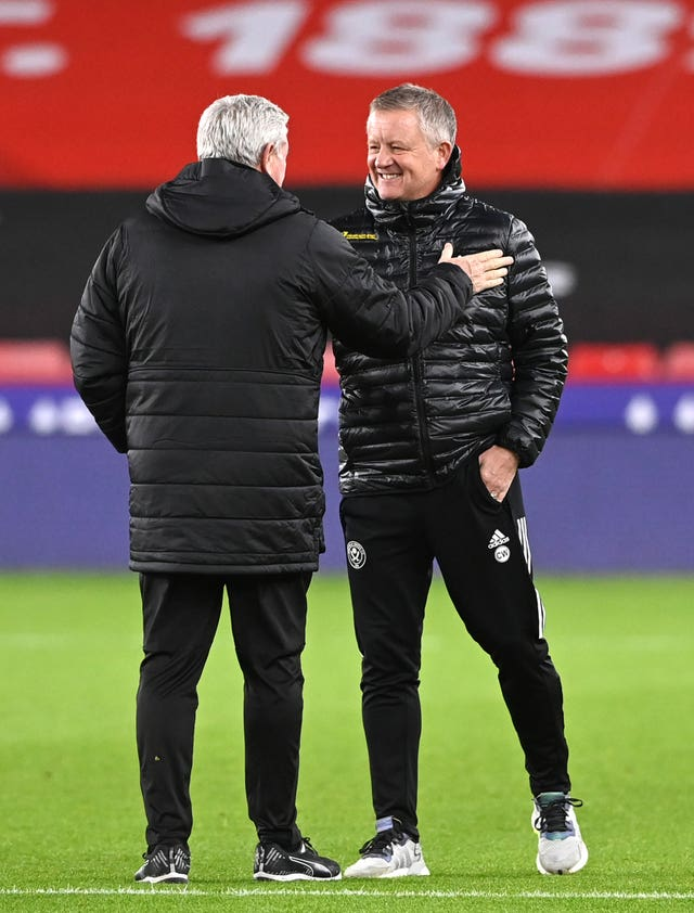 Good friends Chris Wilder and Steve Bruce will see their teams clash in what the former hopes will be a relegation six-pointer at the end of the season.