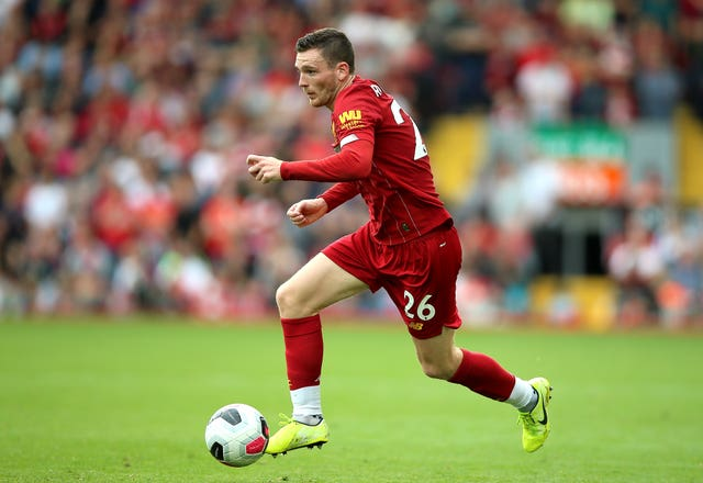 Andrew Robertson is happy to play through the pain for Liverpool