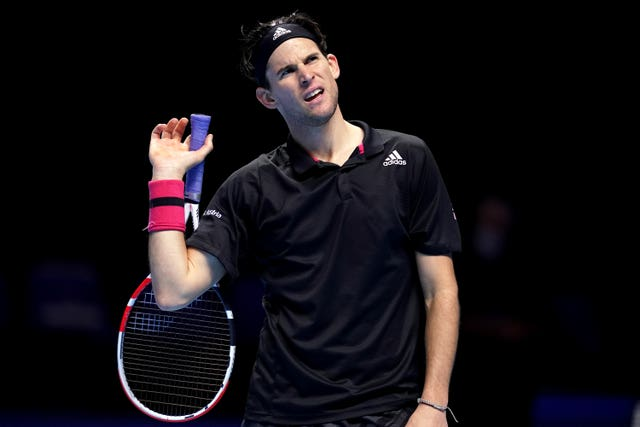 Dominic Thiem will play either Novak Djokovic or Alexander Zverev in the semi-finals