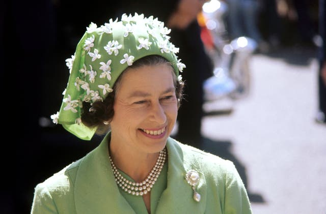 The Queen pictured during a visit to Princess Margaret Hospital, Christchurch, New Zealand as part of her Silver Jubilee tour