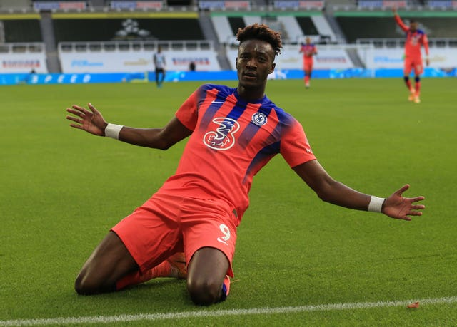 Tammy Abraham celebrates his goal