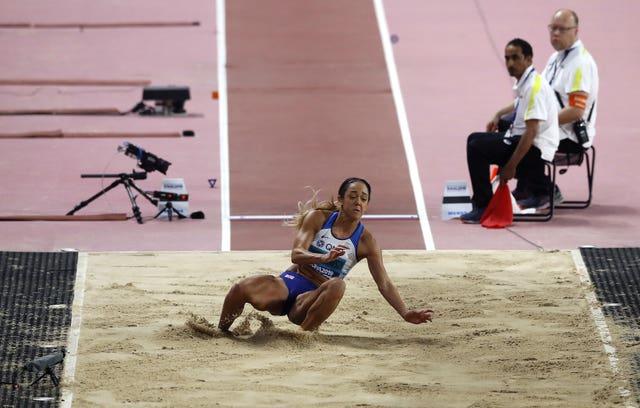Katarina Johnson-Thompson extended her lead in the heptathlon