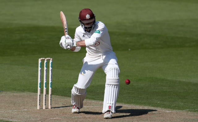 Surrey's Ben Foakes in action on his way to a half century in the County Championship against Essex as the game ended in a draw