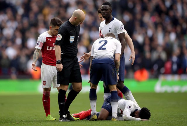 Pochettino was unimpressed by some of the decision-making of referee Anthony Taylor during the derby