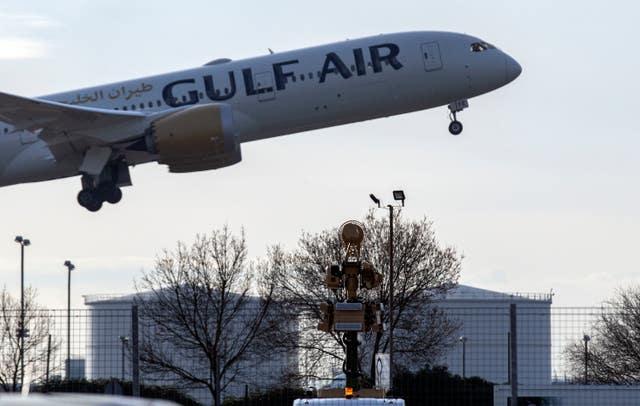 A Gulf Air plane (Steve Parsons/PA)