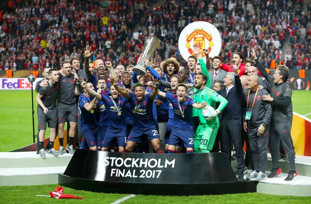 Manchester United won the Europa League in 2017