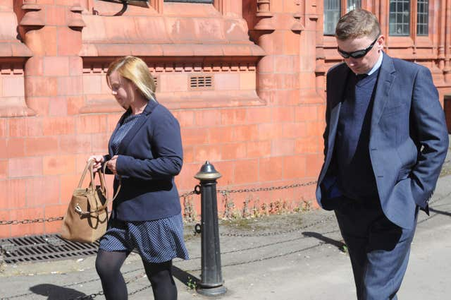 Hannah Rose and Paul Oliver at Birmingham Magistrates' Court