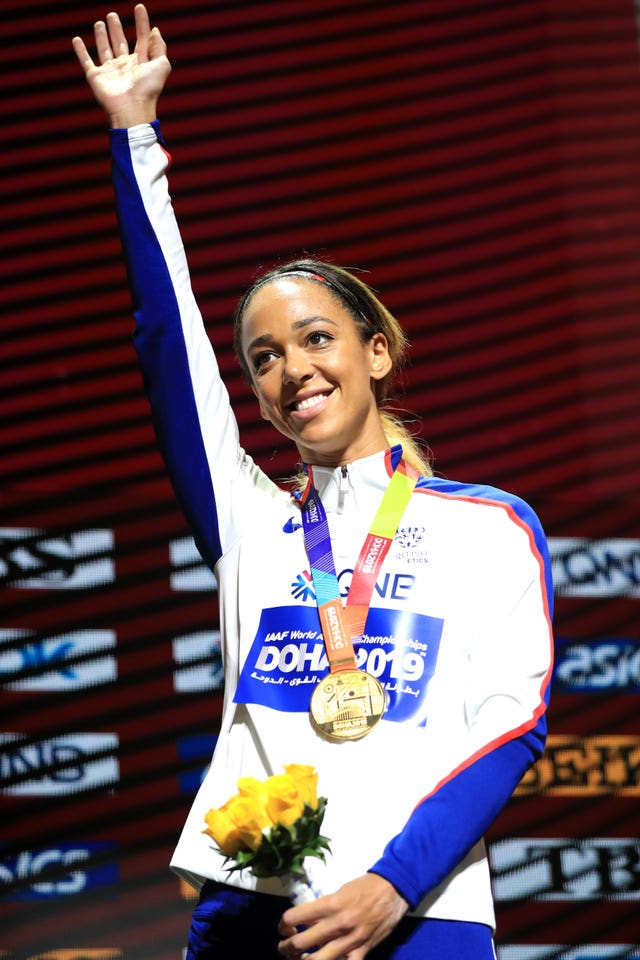 Katarina Johnson-Thompson won gold in Doha
