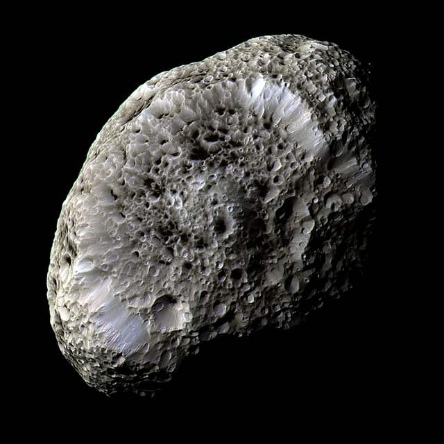 One of Saturn's outer moons, Hyperion, snapped in incredible detail by the Cassini spacecraft
