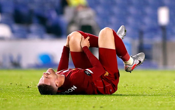 Jordan Henderson suffered a knee injury