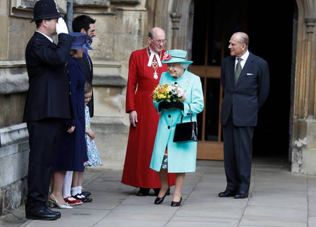 Royals at Easter Sunday church service