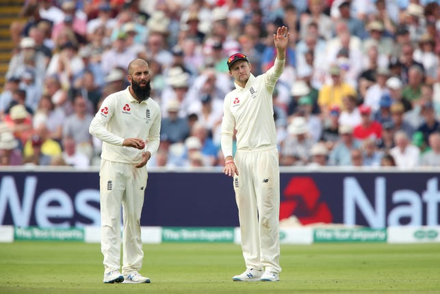 Moeen Ali, left, struggled in the first Test