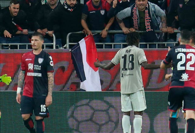 Moise Kean was abused by Cagliari supporters earlier this week