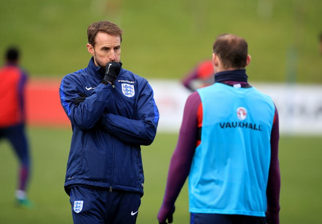 Gareth Southgate, left, and Wayne Rooney