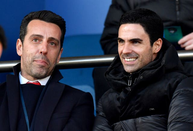 Arteta was at Goodison Park to watch Arsenal a day after taking over as head coach