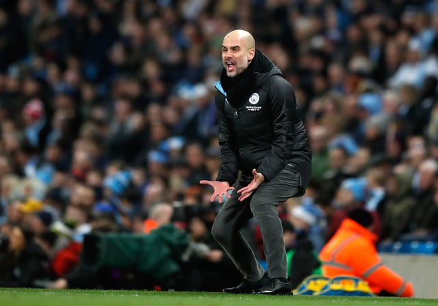 Pep Guardiola makes his feelings known on the touchline