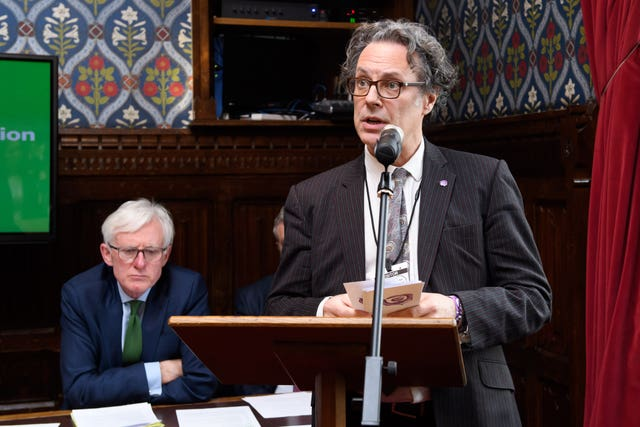 Ian Russell, the father of Molly Russell, speaking at an event in Parliament (Jonathan Hordle/NSPCC)