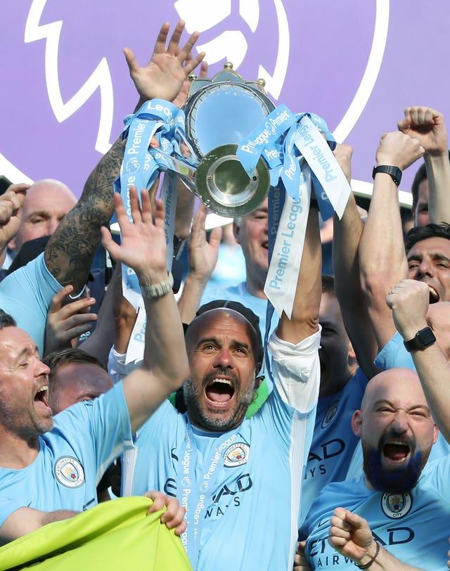 Guardiola has won two Premier League titles with City