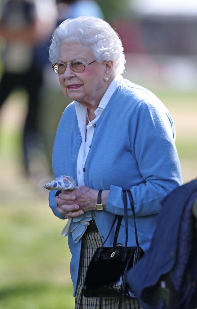 Queen Elizabeth II during the Royal Windsor Horse Show (Steve Parsons/PA)