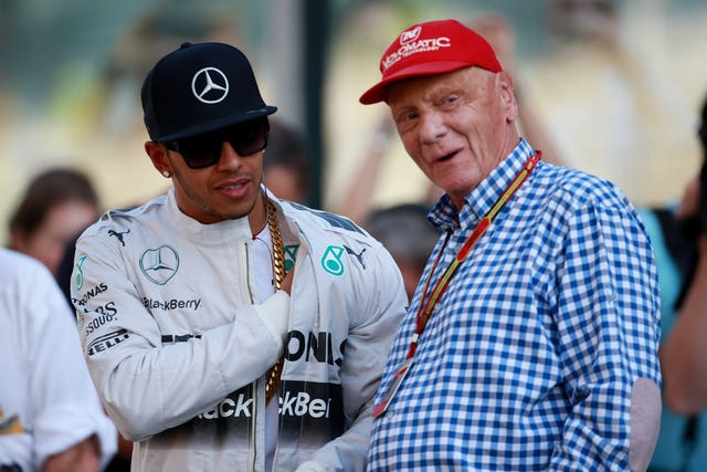 Niki Lauda, speaking to Lewis Hamilton, won three world championships