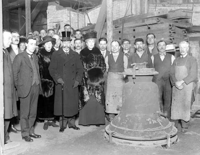 Royal visit to Whitechapel Bell Foundry.