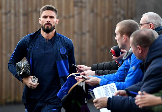 Olivier Giroud looks set to stick with Chelsea for the rest of the season