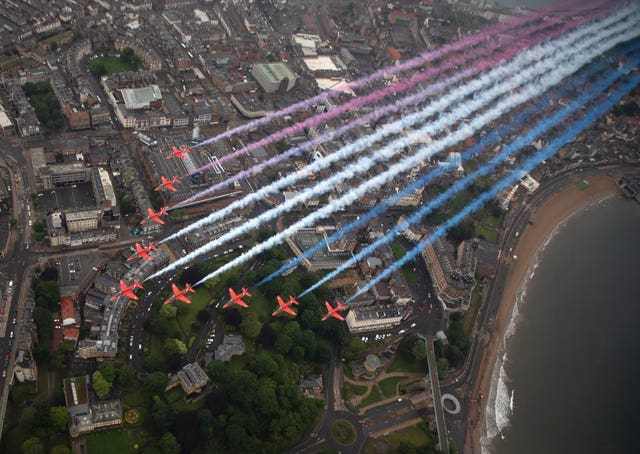 The Red Arrows will be part of the commemorations on VJ Day. SAC Hannah Smoker/MoD