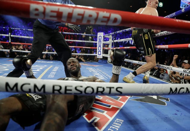 Wilder was on the canvas four times in the fight, although two were slips