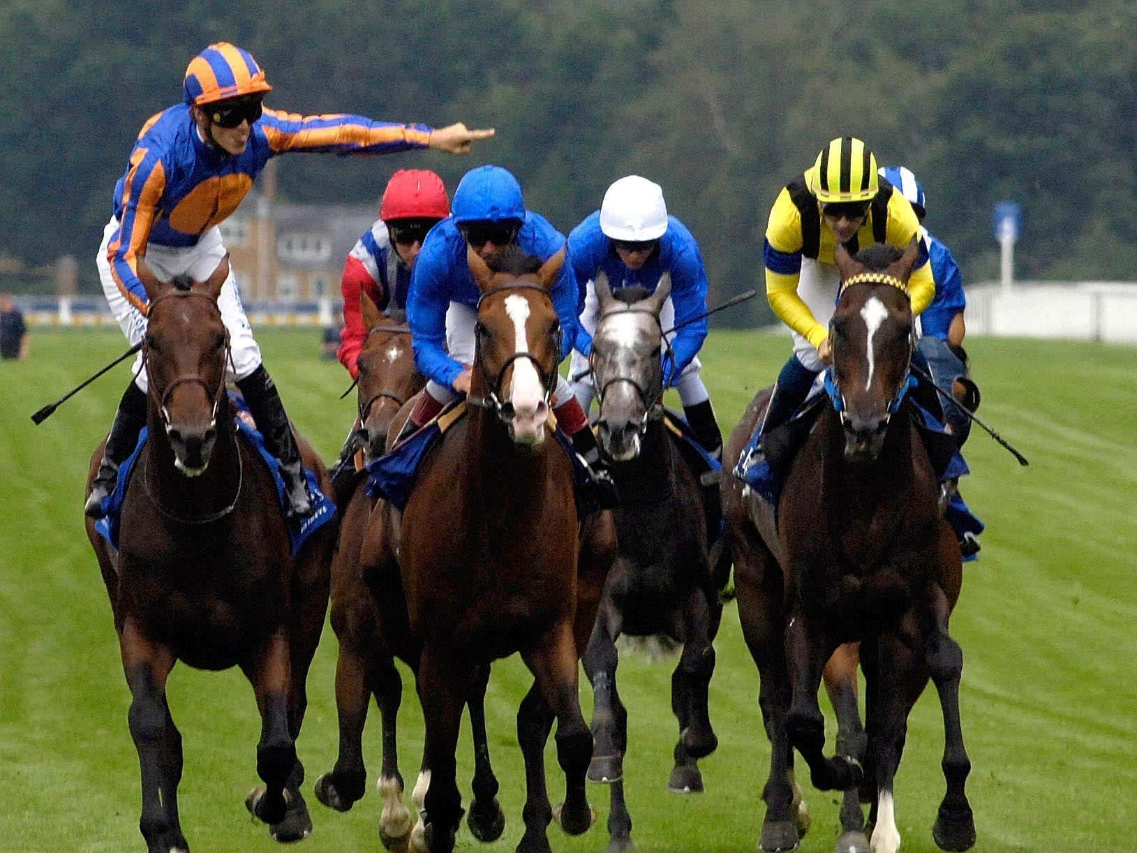 Heart's Cry (right) could not win the King George but can his son, Cheval Grand? (Rebecca Naden/PA)