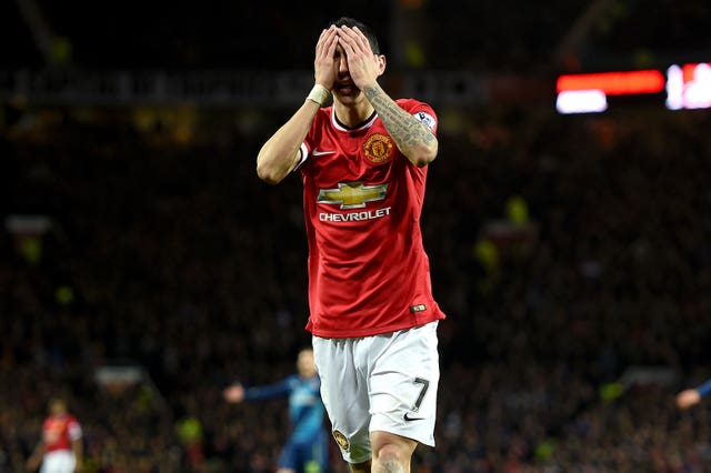 Angel Di Maria was an expensive misfit at Manchester United (Martin Rickett/PA)