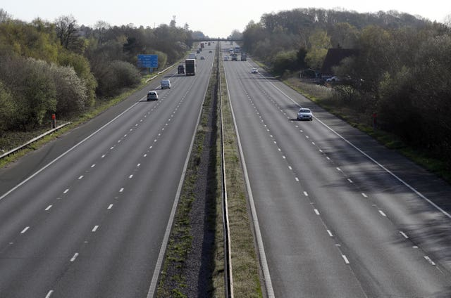 Cars on the M3 motorway