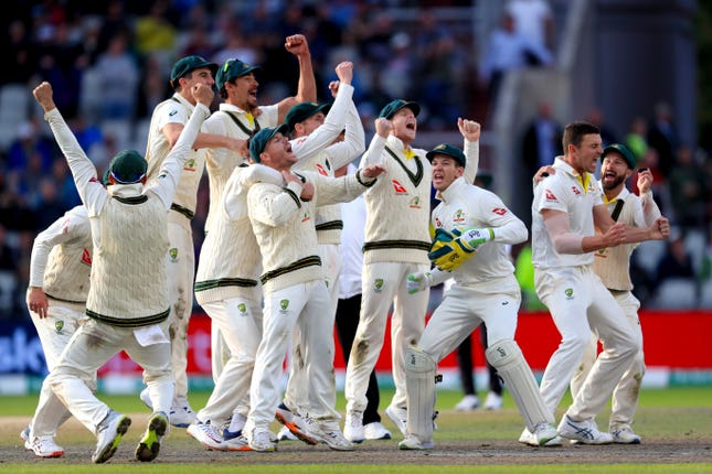 Despite a resilient display by England's batsmen, Australia claimed victory at Old Trafford to ensure they had retained the Ashes