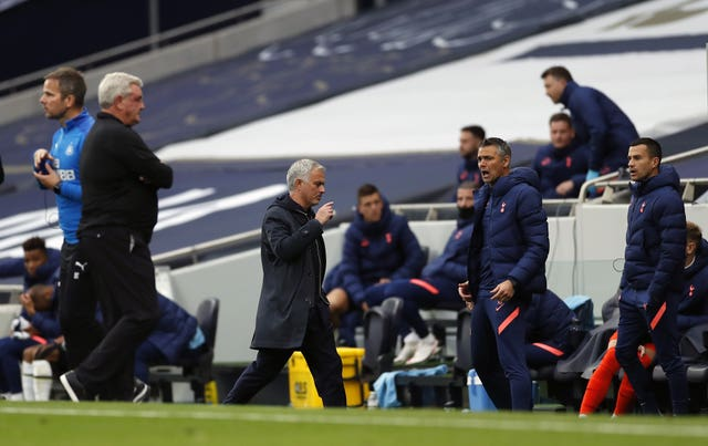 Jose Mourinho reacted furiously after Newcastle were awarded a last-gasp penalty