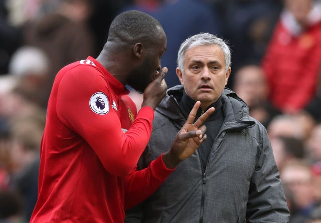 Romelu Lukaku, left, and Jose Mourinho