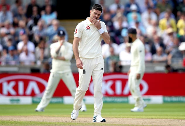 James Anderson managed just four overs on day one