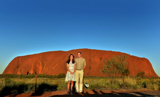 William and Kate, during a visit to Uluru in 2014