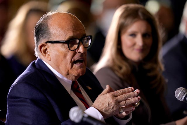 Donald Trump's personal lawyer Rudy Giuliani