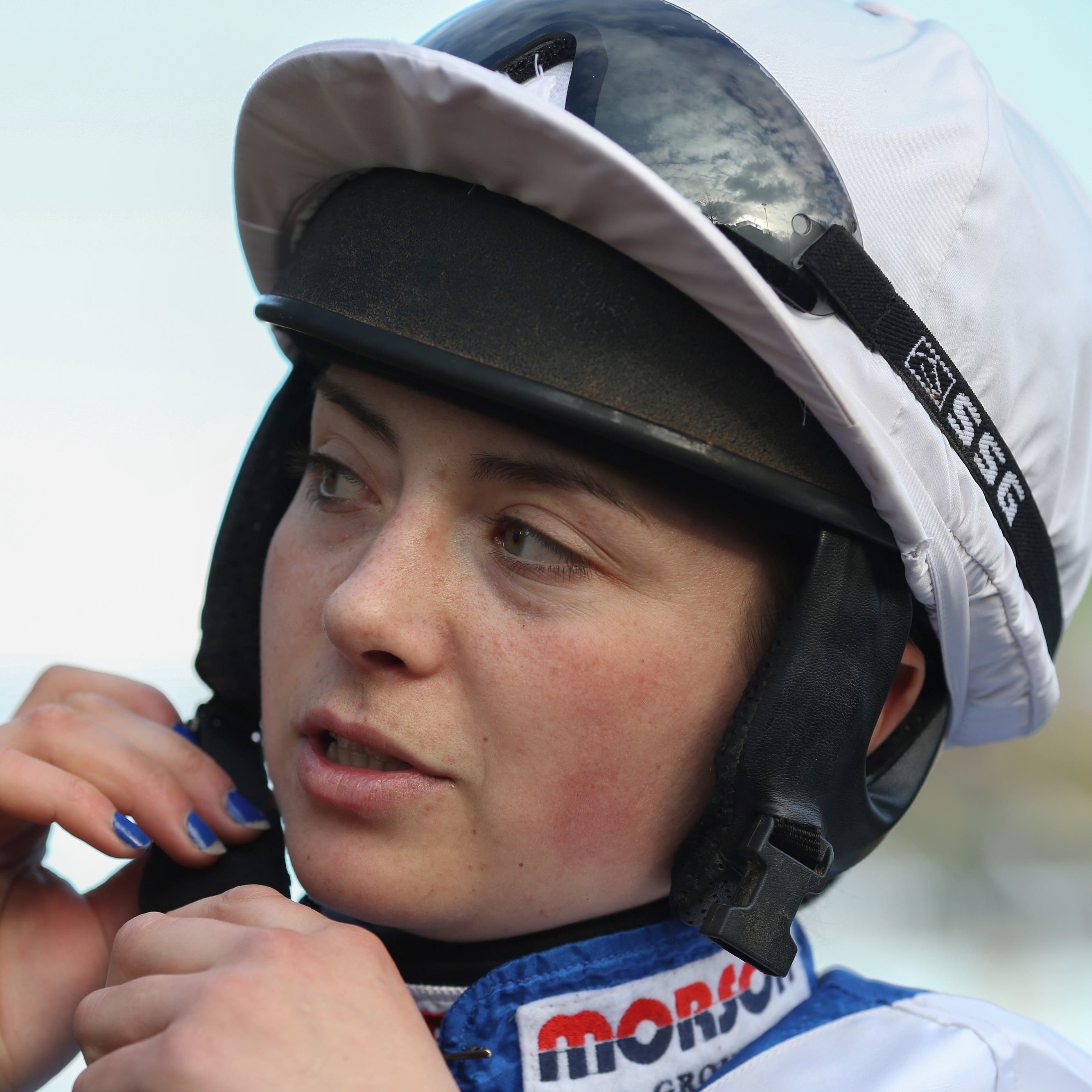Bryony Frost celebrated the 100th winner of her career at Plumpton on Monday