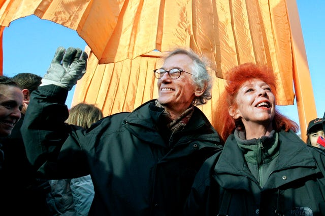 Artists Christo and his wife and partner Jeanne-Claude