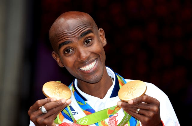 Sir Mo Farah with his gold medals from the Rio Olympics in 2016