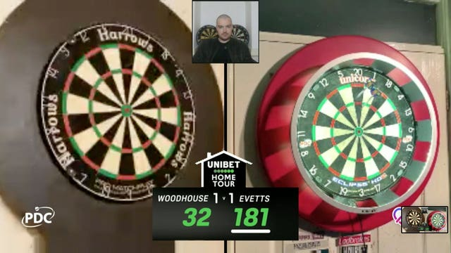 Luke Woodhouse hit a nine-darter during the Home Tour