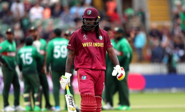Chris Gayle went for a 13-ball duck at his former ground