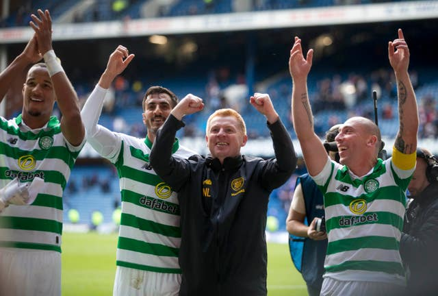 Neil Lennon's Celtic secured a 2-0 Old Firm derby win over Rangers at Ibrox