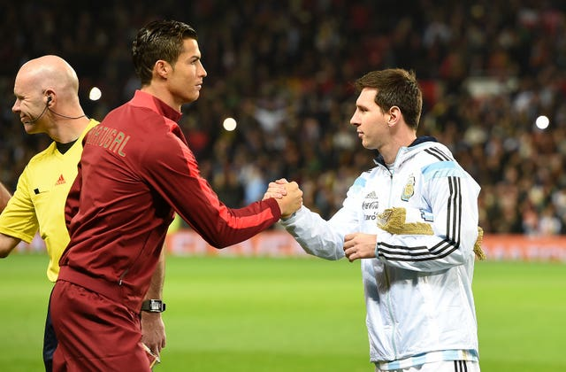 Cristiano Ronaldo, left, and Lionel Messi