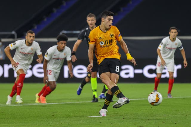 Raul Jimenez's penalty was saved by Yassine Bounou early in Tuesday's quarter-final